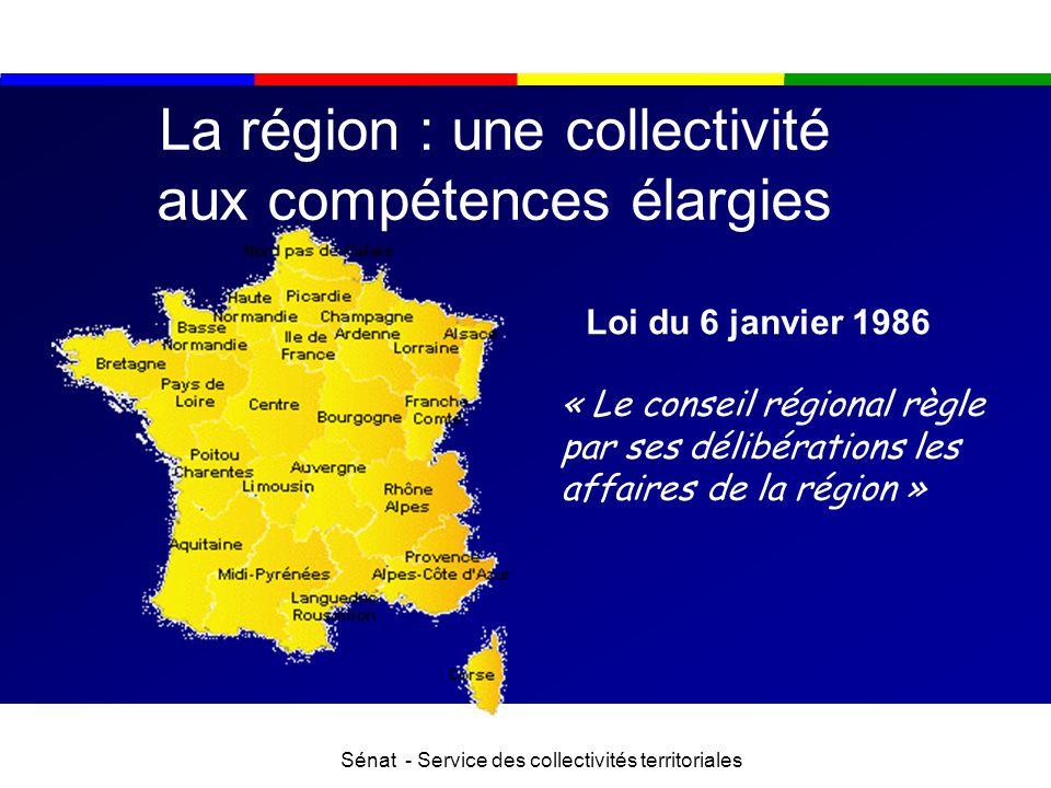 La région : une collectivité aux compétences élargies