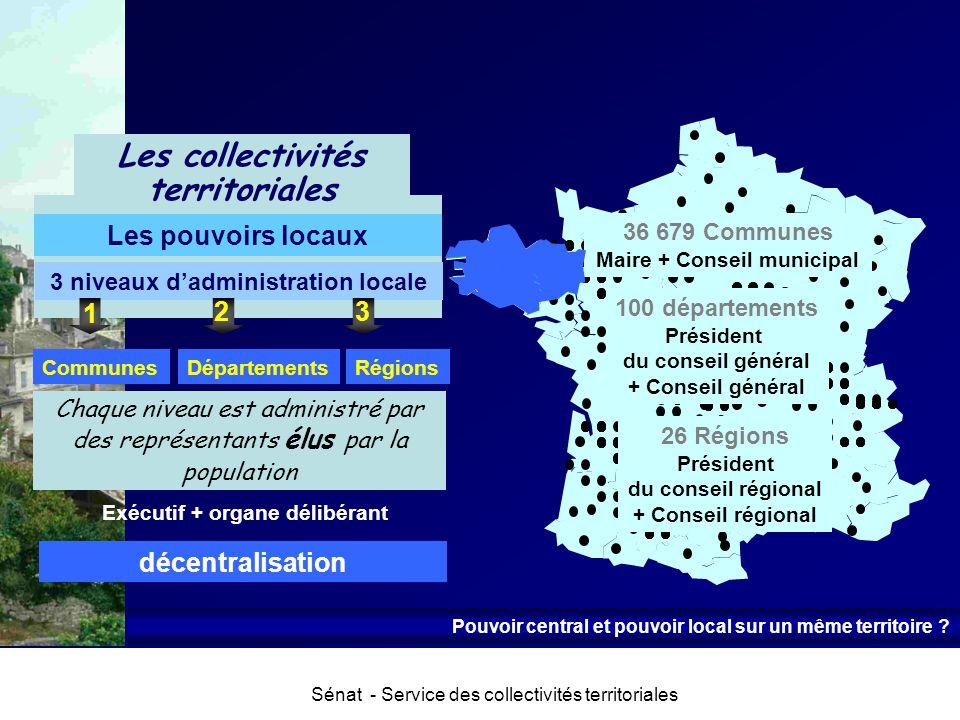 Les collectivités territoriales 3 niveaux d'administration locale