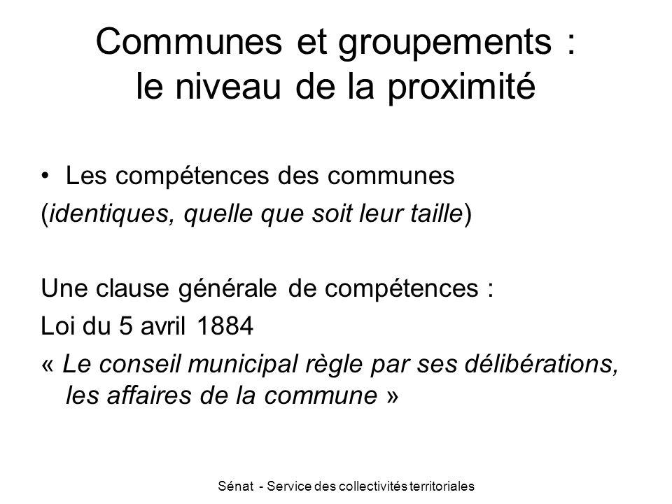 Communes et groupements : le niveau de la proximité