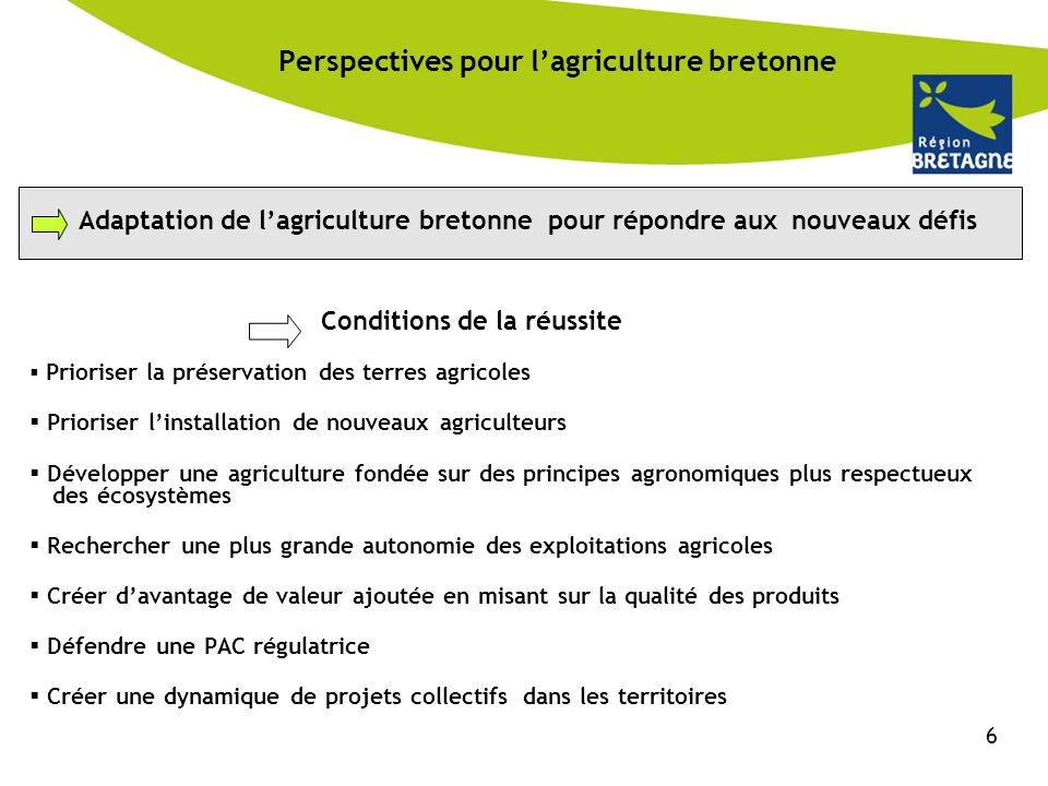 Perspectives pour l'agriculture bretonne