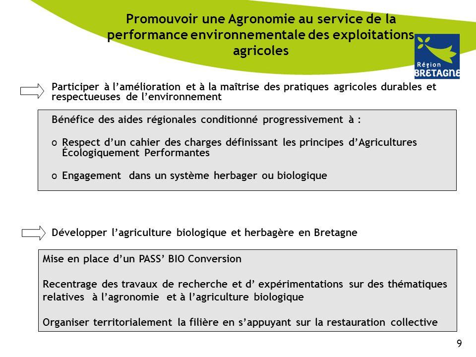 Promouvoir une Agronomie au service de la performance environnementale des exploitations agricoles