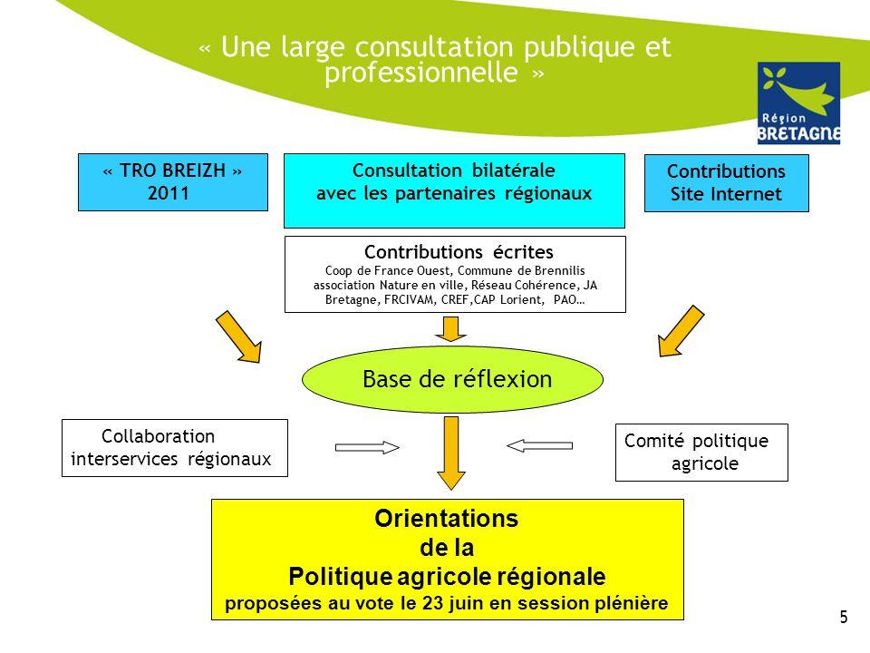 « Une large consultation publique et professionnelle »