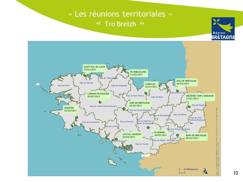 « Les réunions territoriales » « Tro Breizh »