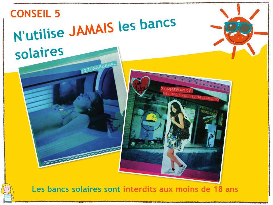 N utilise JAMAIS les bancs solaires