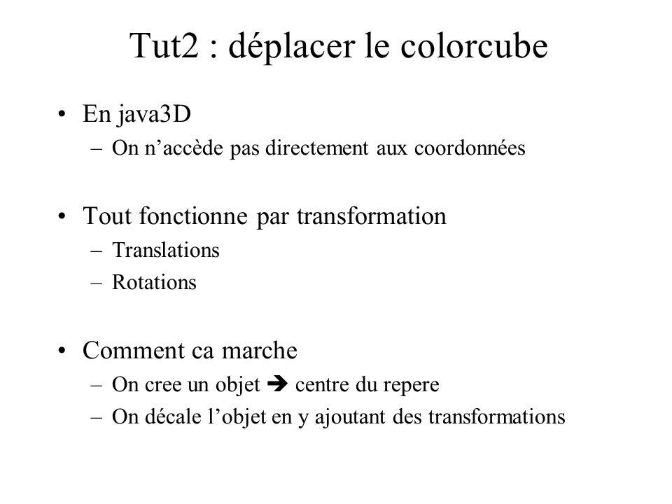 Tut2 : déplacer le colorcube