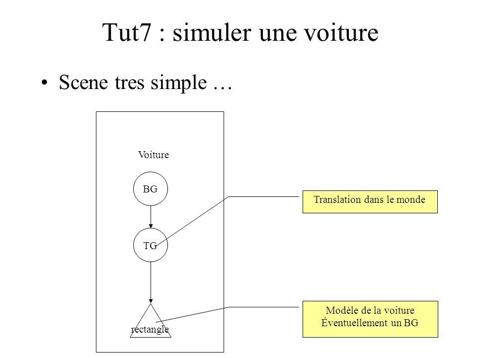 Tut7 : simuler une voiture