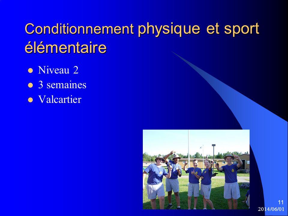 Conditionnement physique et sport élémentaire