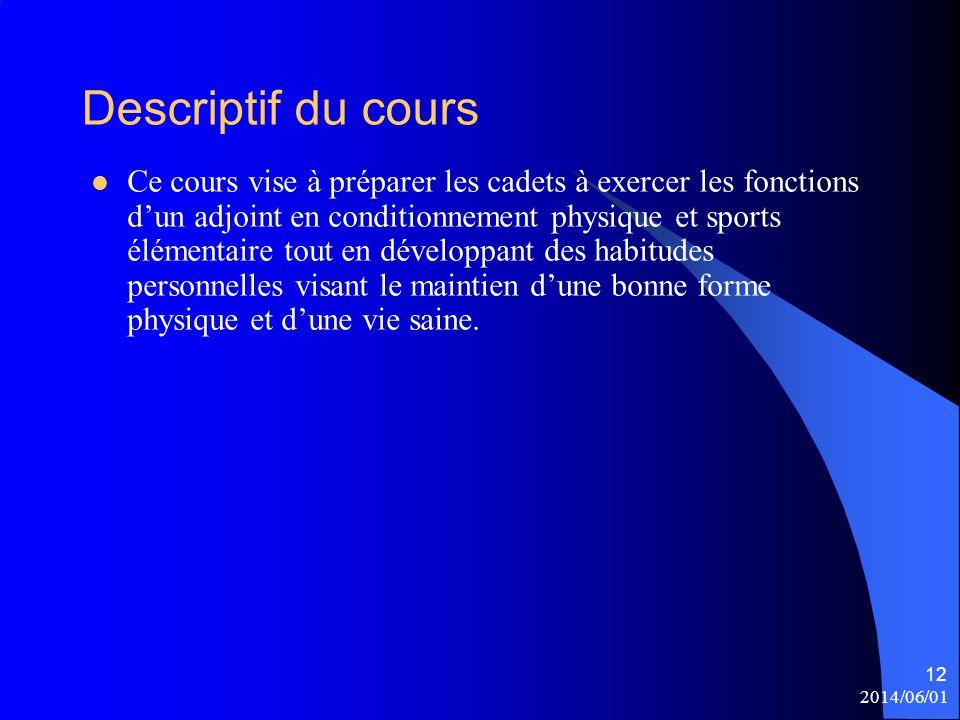 Descriptif du cours