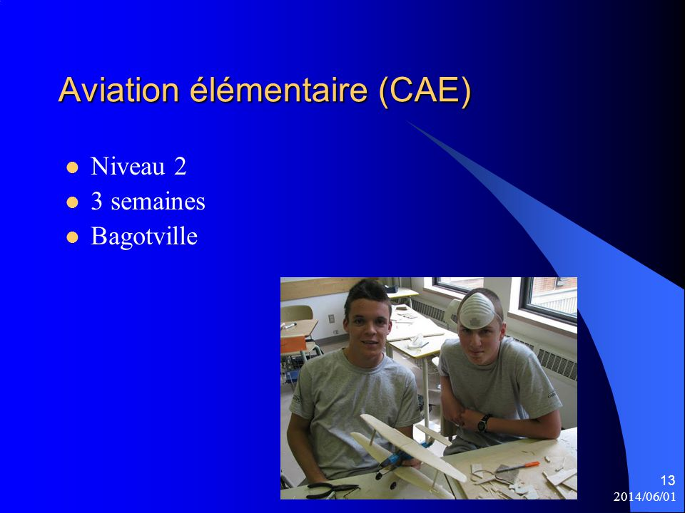 Aviation élémentaire (CAE)