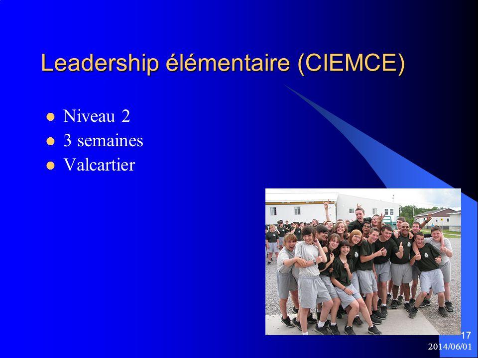 Leadership élémentaire (CIEMCE)