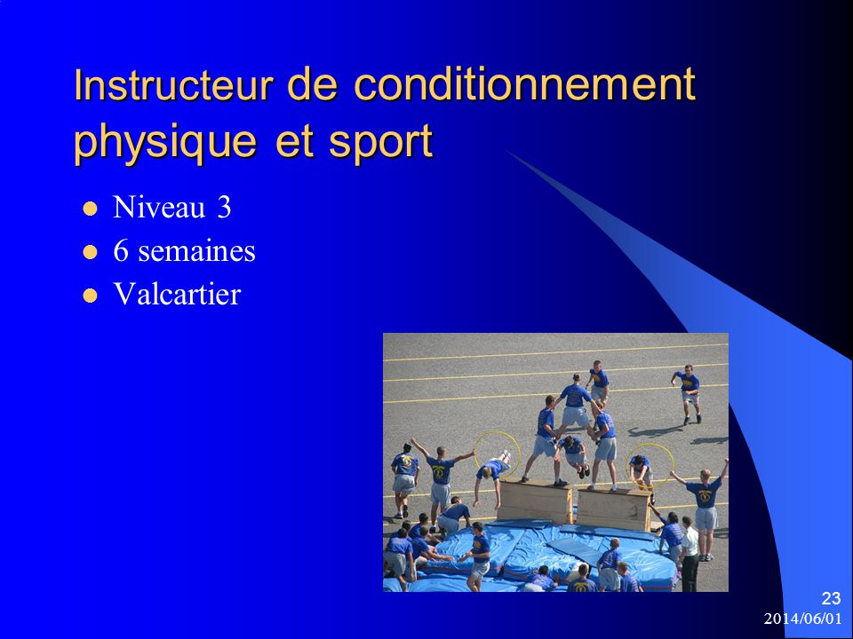 Instructeur de conditionnement physique et sport
