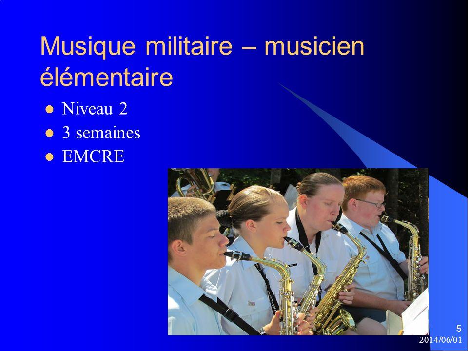 Musique militaire – musicien élémentaire