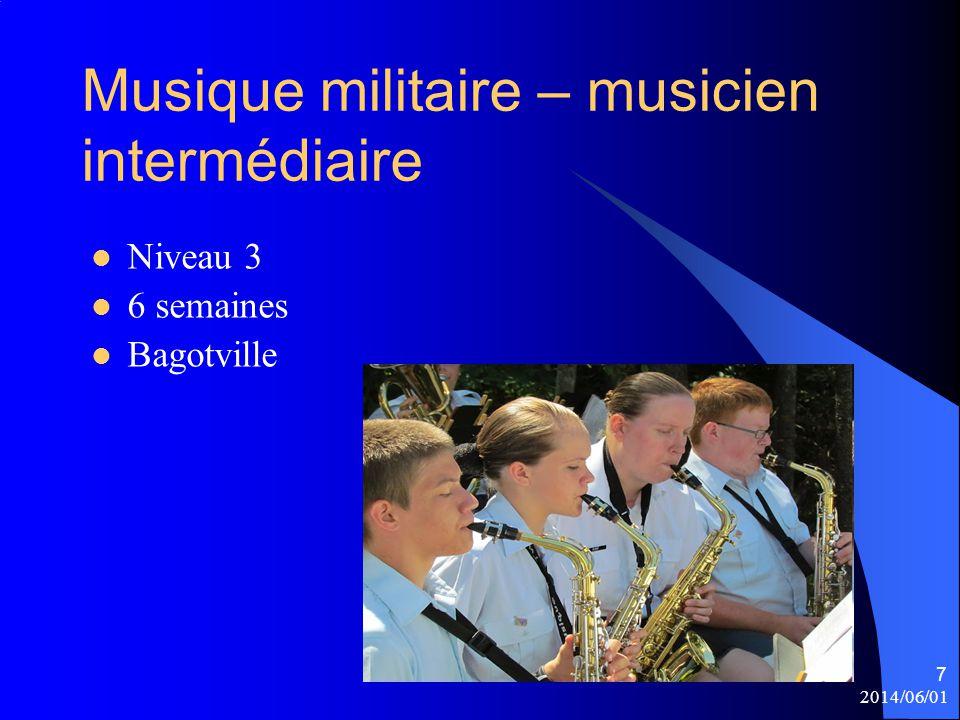 Musique militaire – musicien intermédiaire