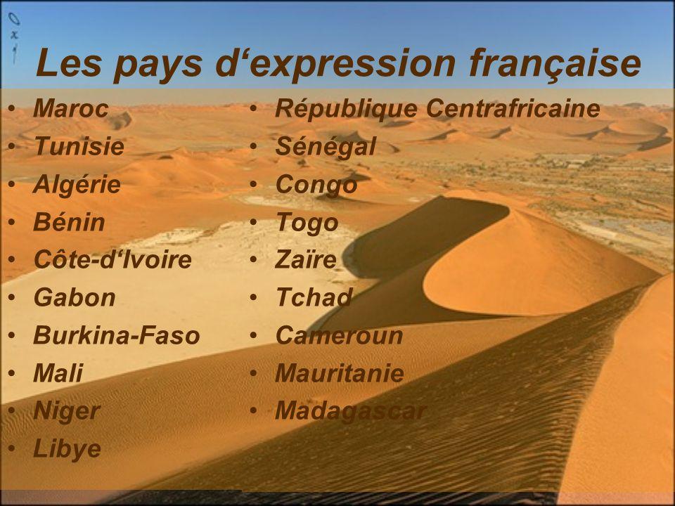 Les pays d'expression française