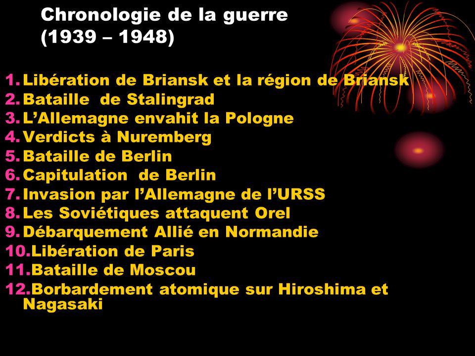 Chronologie de la guerre (1939 – 1948)