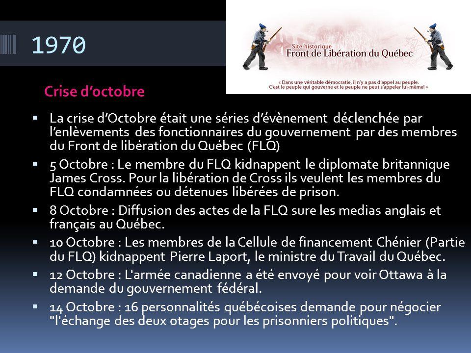 1970 Crise d'octobre.