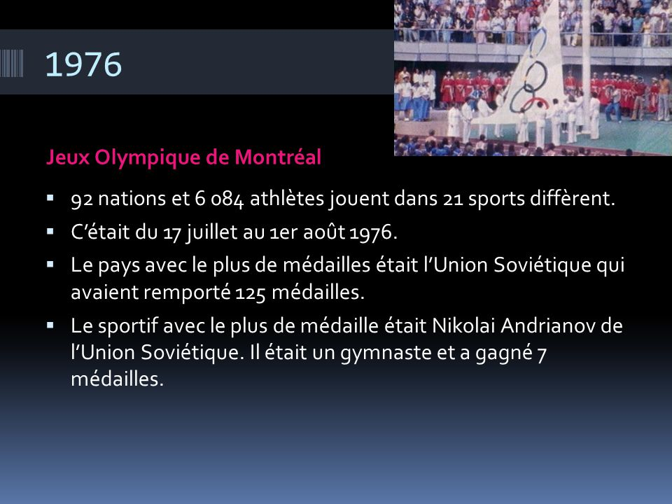 1976 Jeux Olympique de Montréal