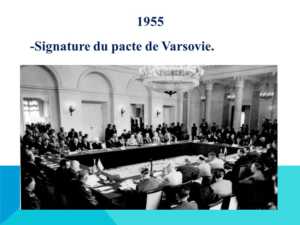 1955 -Signature du pacte de Varsovie.