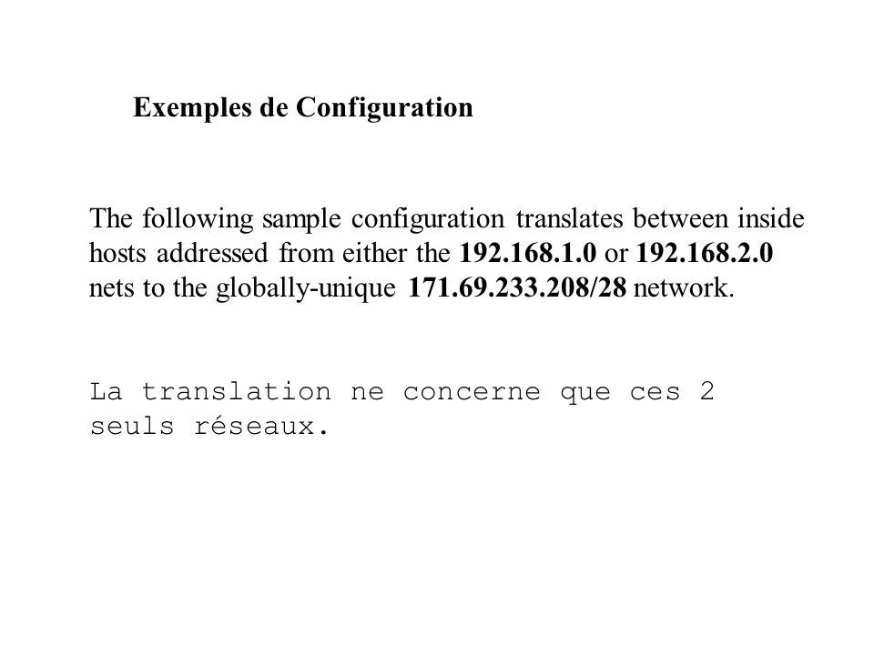 Exemples de Configuration