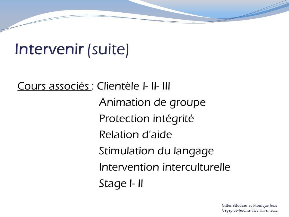 Intervenir (suite)