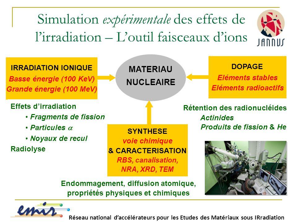 Simulation expérimentale des effets de l'irradiation – L'outil faisceaux d'ions
