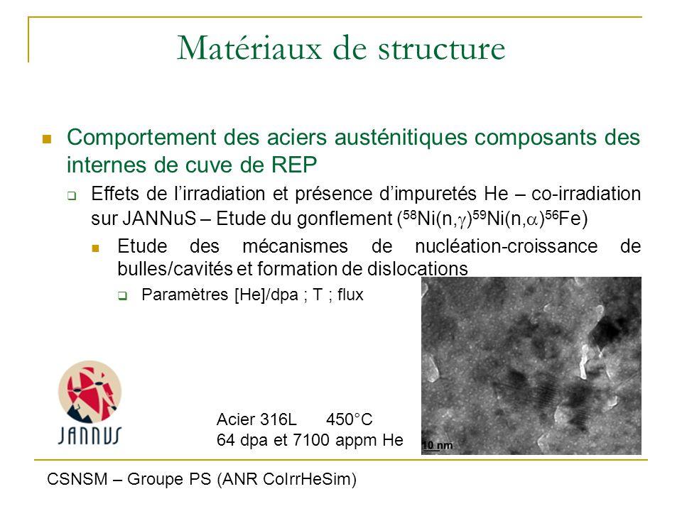 Matériaux de structure