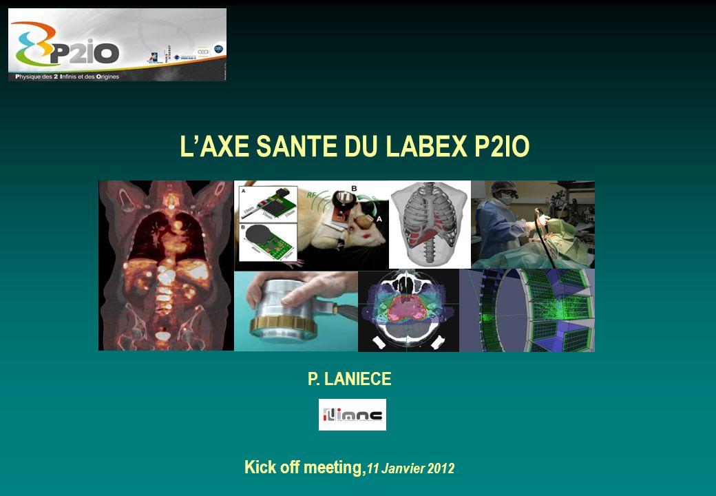 L'AXE SANTE DU LABEX P2IO Kick off meeting,11 Janvier 2012