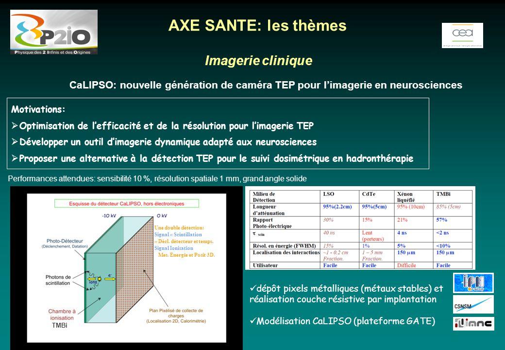 AXE SANTE: les thèmes Imagerie clinique
