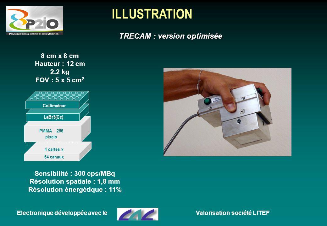 ILLUSTRATION TRECAM : version optimisée 8 cm x 8 cm Hauteur : 12 cm