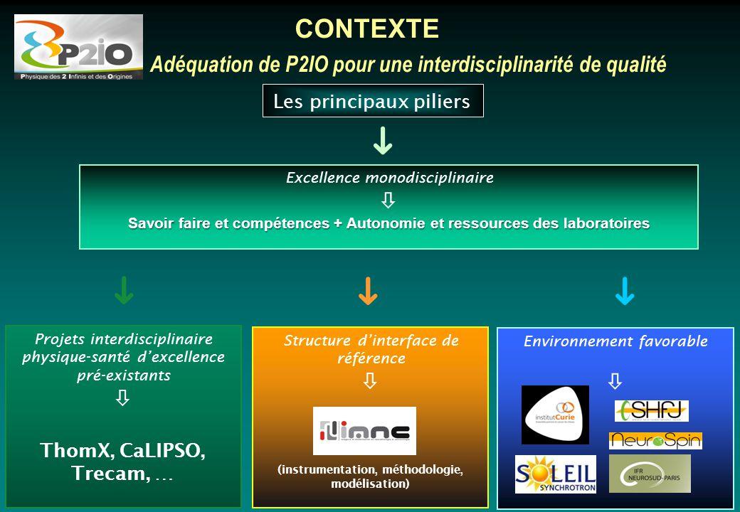 CONTEXTE Adéquation de P2IO pour une interdisciplinarité de qualité. ➀. Les principaux piliers. ➜