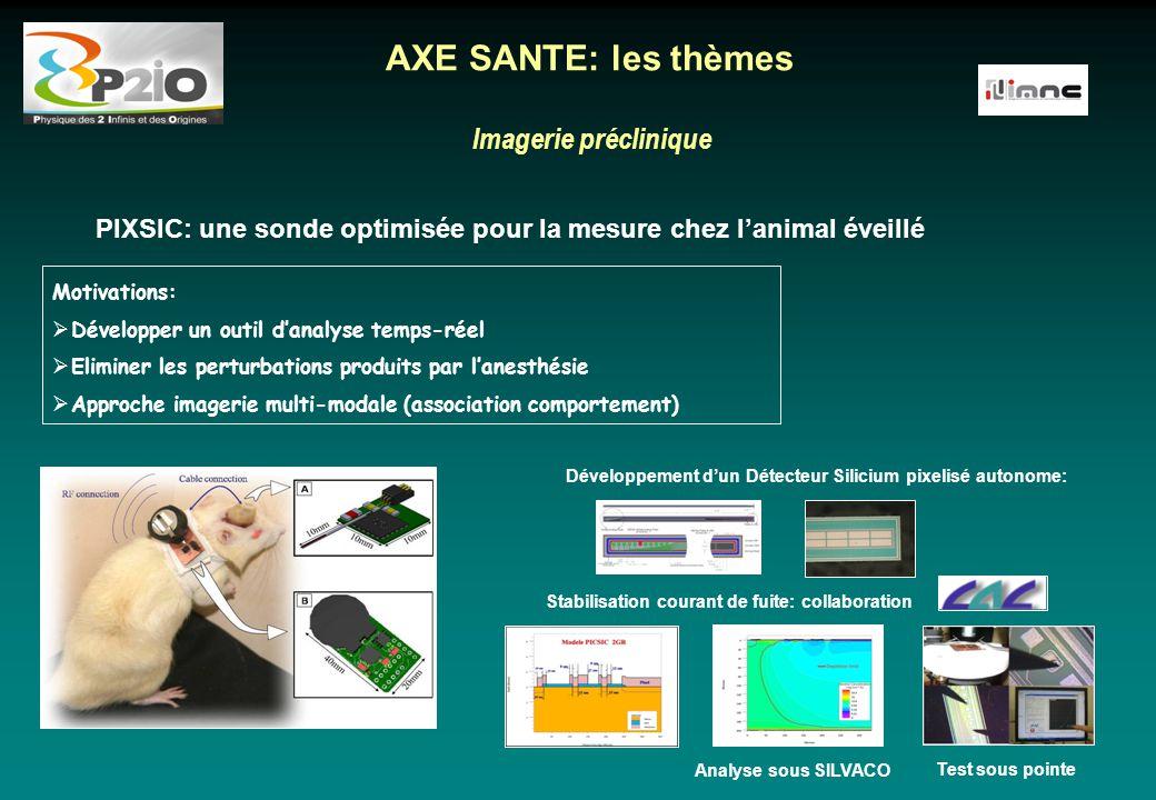 AXE SANTE: les thèmes Imagerie préclinique