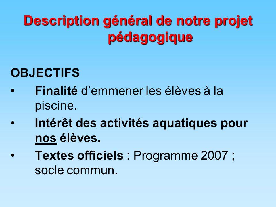 Description général de notre projet pédagogique