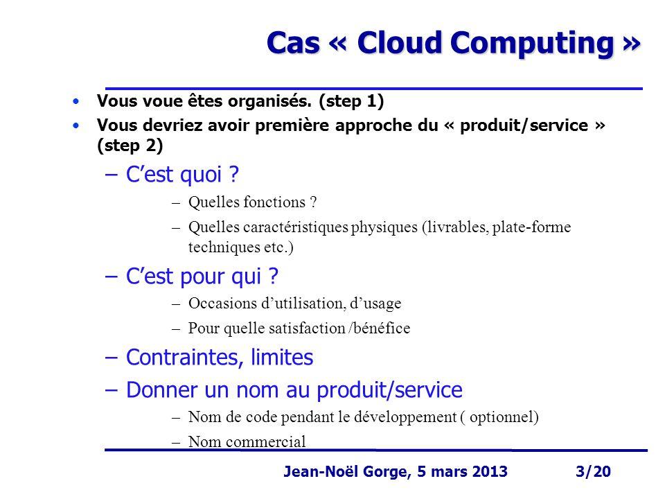 Cas « Cloud Computing » C'est quoi C'est pour qui
