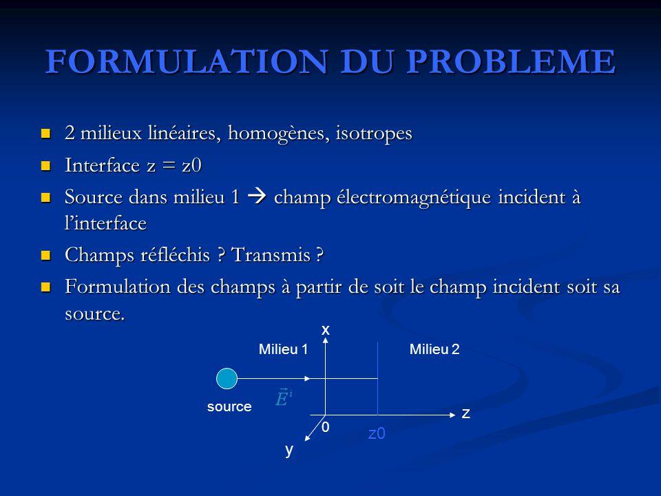 FORMULATION DU PROBLEME