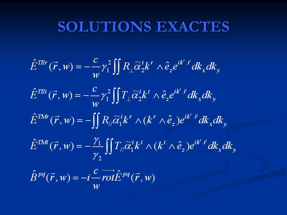 SOLUTIONS EXACTES