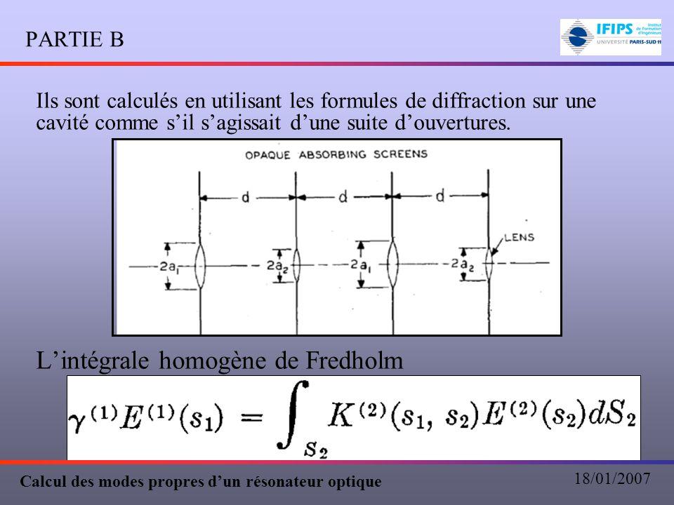 L'intégrale homogène de Fredholm
