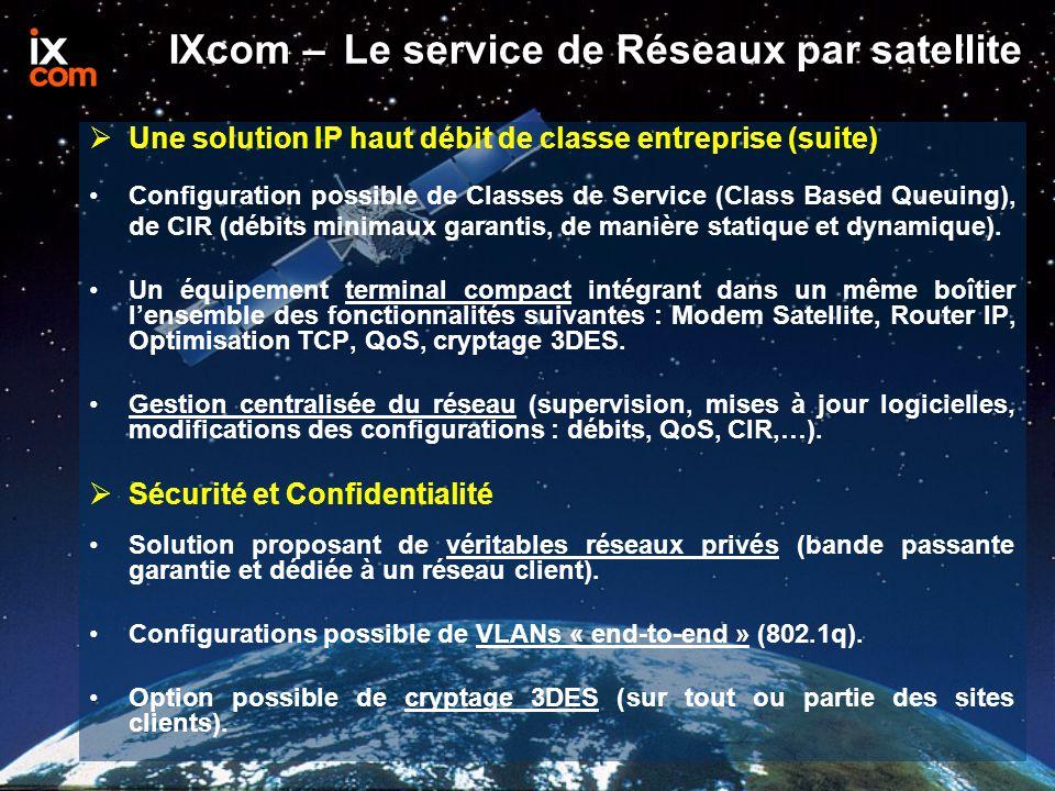 IXcom – Le service de Réseaux par satellite