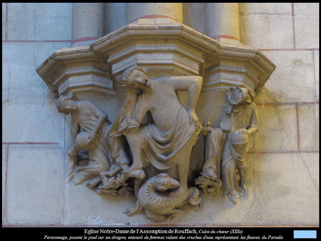 Eglise Notre-Dame de l Assomption de Rouffach, Culot du chœur (XIIIe)