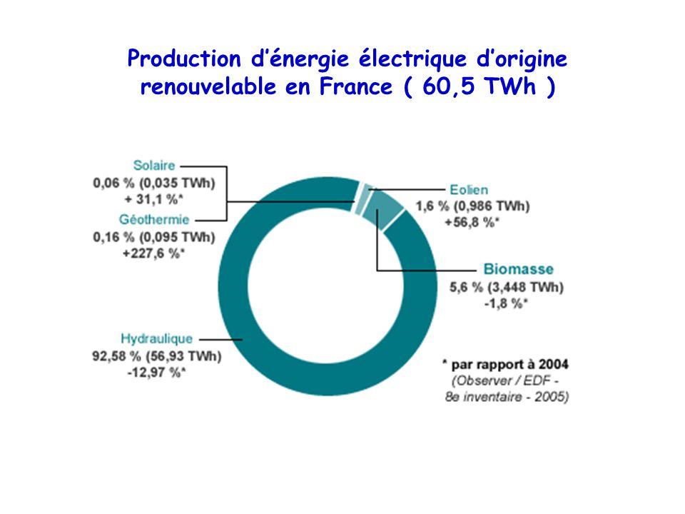 Production d'énergie électrique d'origine