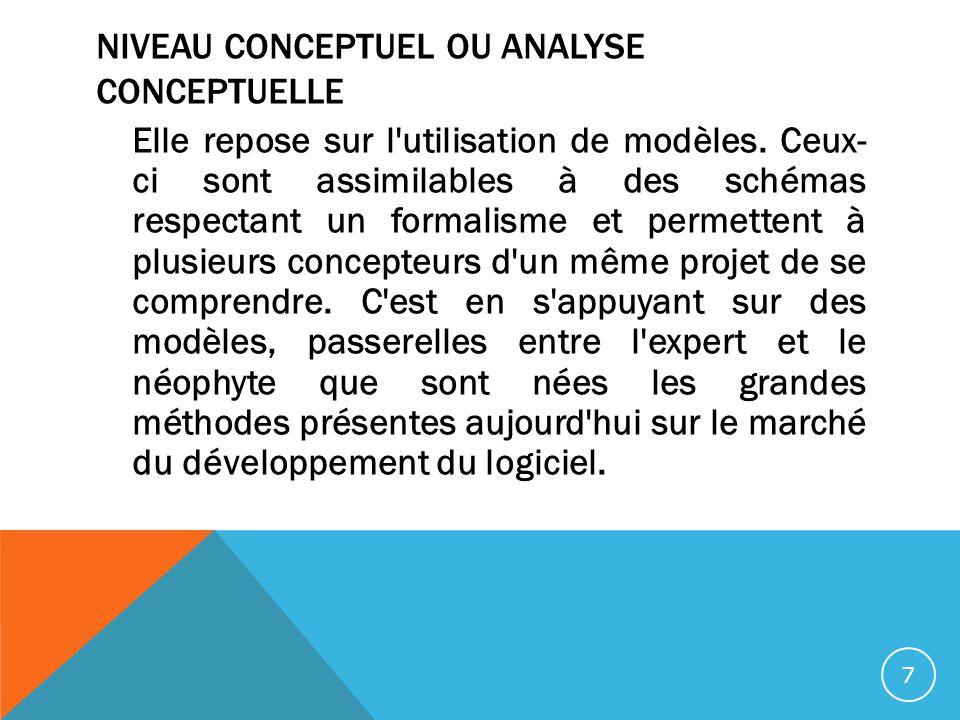 Niveau conceptuel ou analyse conceptuelle