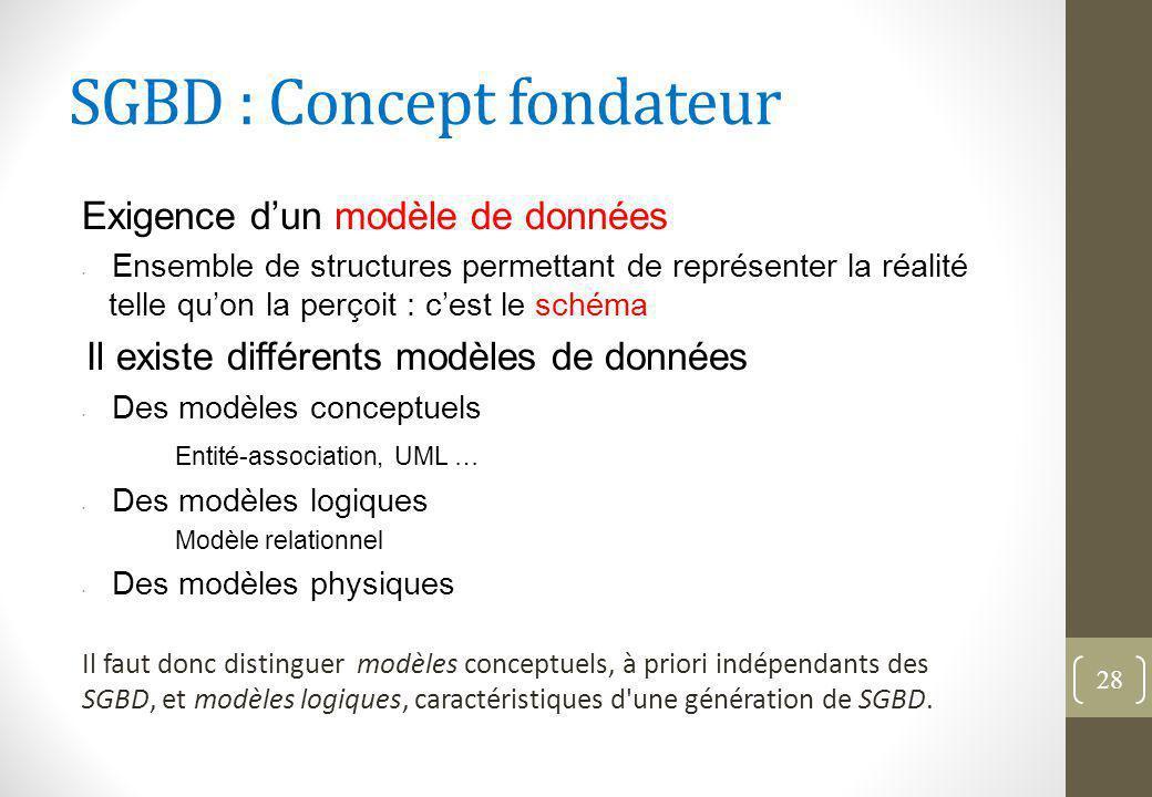 SGBD : Concept fondateur