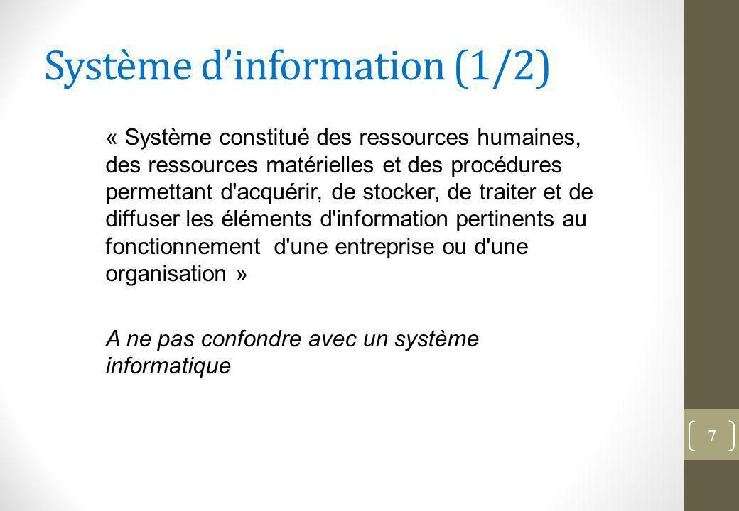Système d'information (1/2)