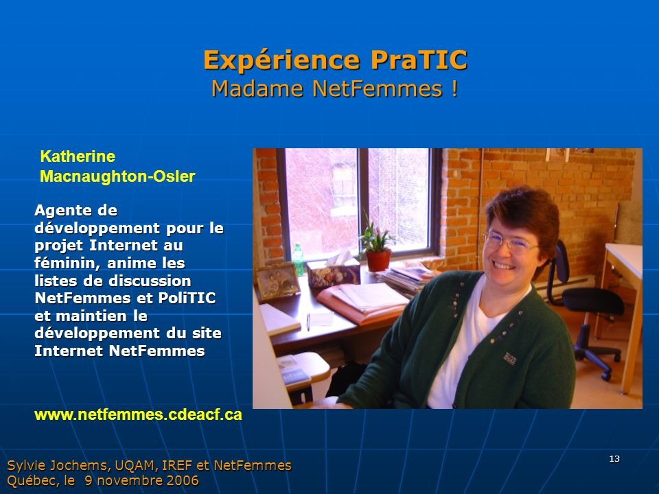 Expérience PraTIC Madame NetFemmes !