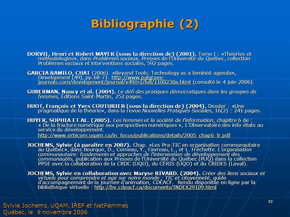 Bibliographie (2)