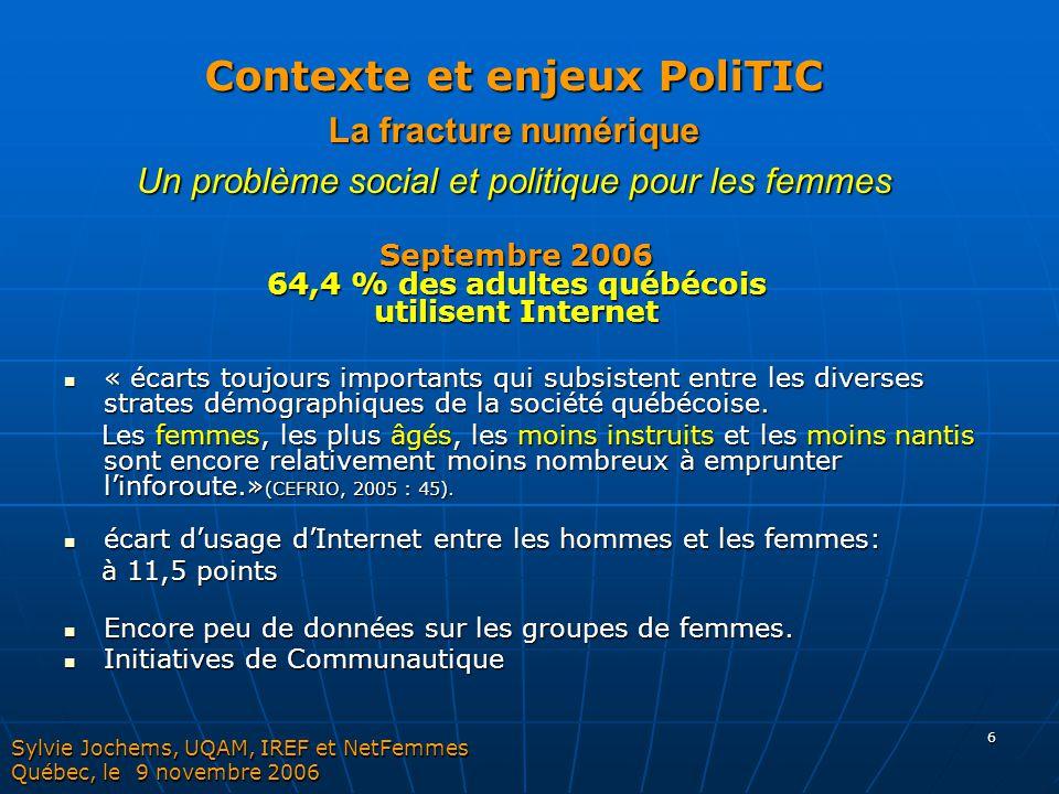 Contexte et enjeux PoliTIC