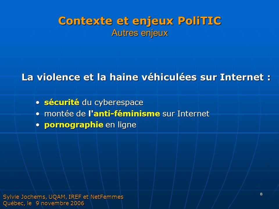 Contexte et enjeux PoliTIC Autres enjeux