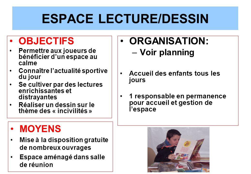 ESPACE LECTURE/DESSIN