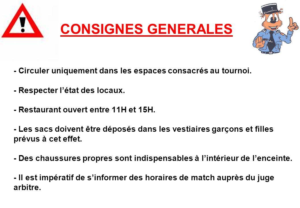 CONSIGNES GENERALES