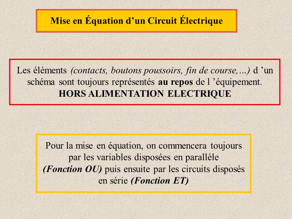 Mise en Équation d'un Circuit Électrique HORS ALIMENTATION ELECTRIQUE