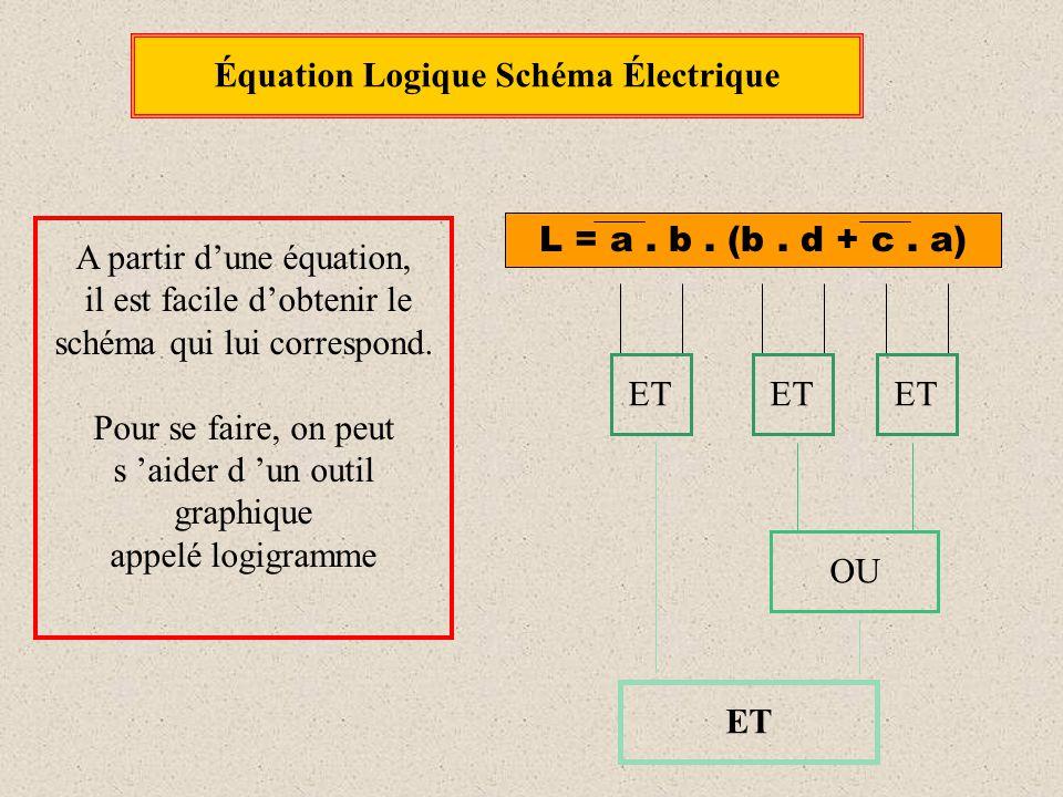 Équation Logique Schéma Électrique